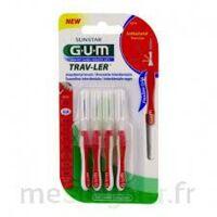 Gum Trav - Ler, 0,8 Mm, Manche Rouge , Blister 4 à VILLEMUR SUR TARN