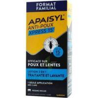Apaisyl Anti-poux Xpress 15' Lotion Antipoux Et Lente 200ml+peigne à VILLEMUR SUR TARN